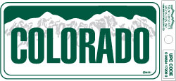 Colorado Small Vinyl Bumper Sticker