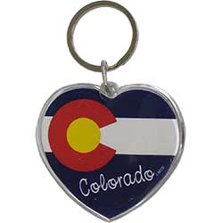 Heart Flag Keychain