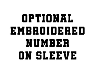Embroidered number option