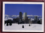 Christmas Cards (Red Box) Denver Skyline