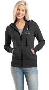 Juniors Fit Ladies District Threads Vintage French Terry Full-Zip Hoodie (Size XXL)