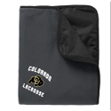 CU Lacrosse Embroidered Fleece and Nylon blanket