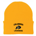 CU Lacrosse Embroidered Beanie
